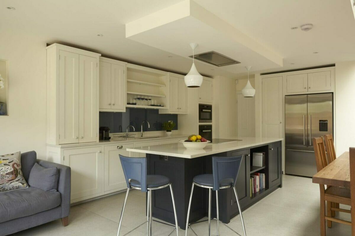 Wandsworth London Painted Shaker Kitchen Higham Furniture