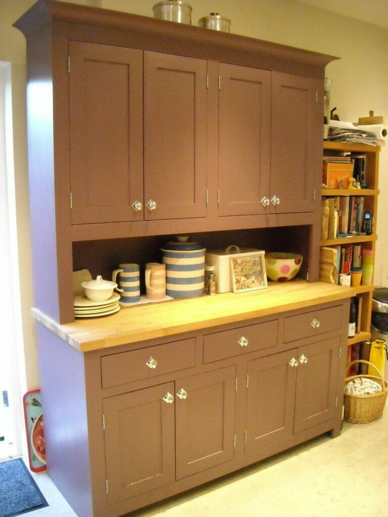 Purple Painted Shaker Dresser