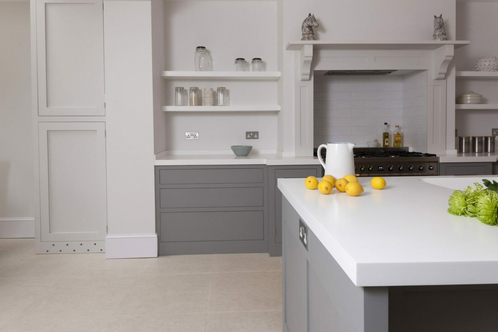 Battersea London Handleless Shaker Kitchen Higham Furniture