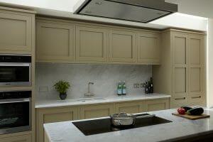 Battersea Shaker Kitchen with proud Induction hob
