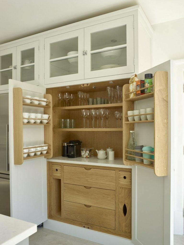 Painted and Oak Shaker Larder Hertford