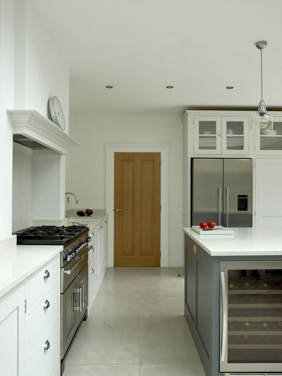 Hertford Hertfordshire Painted Shaker Kitchen Higham