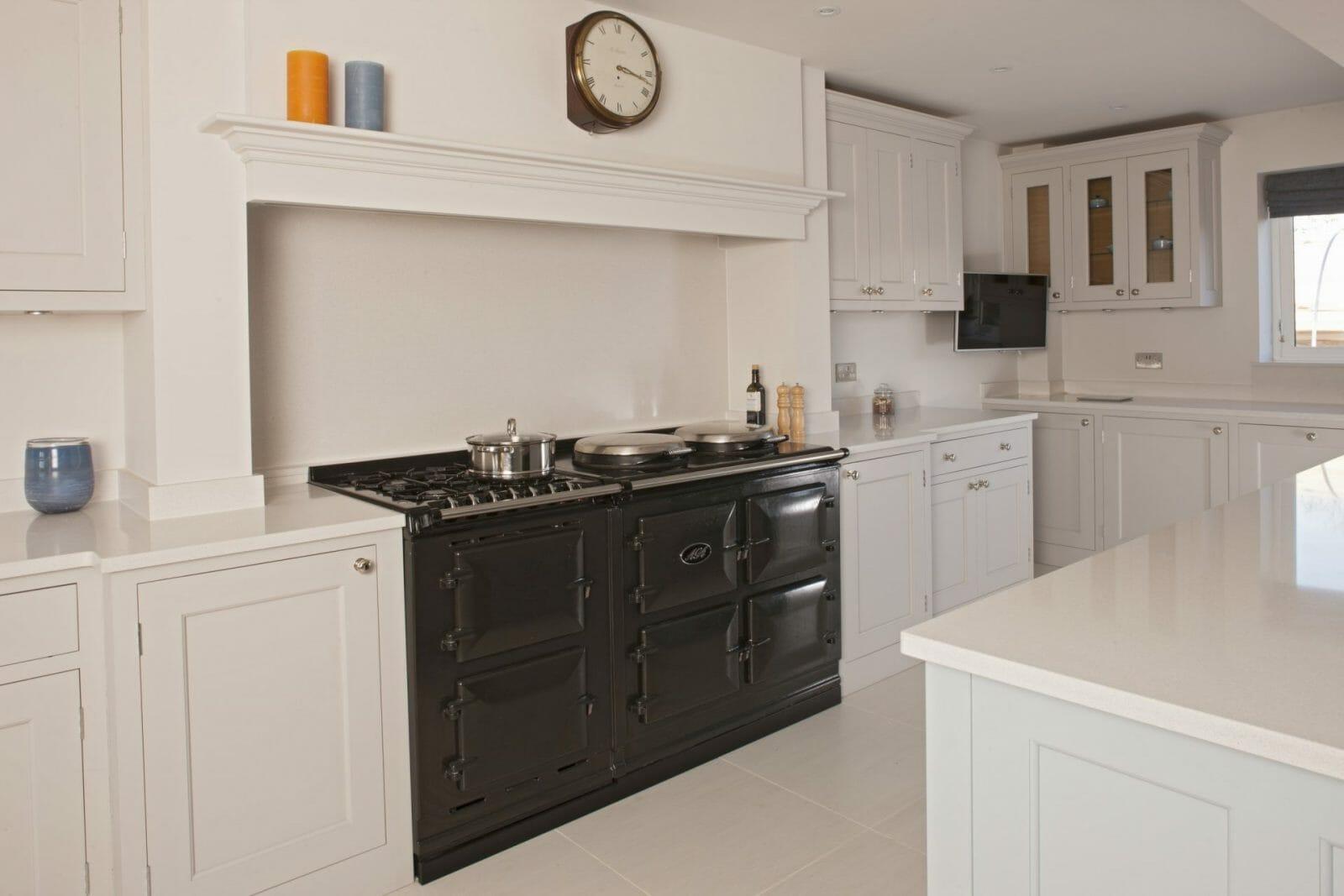 Warwickshire Traditional Painted Shaker Kitchen Higham Furniture