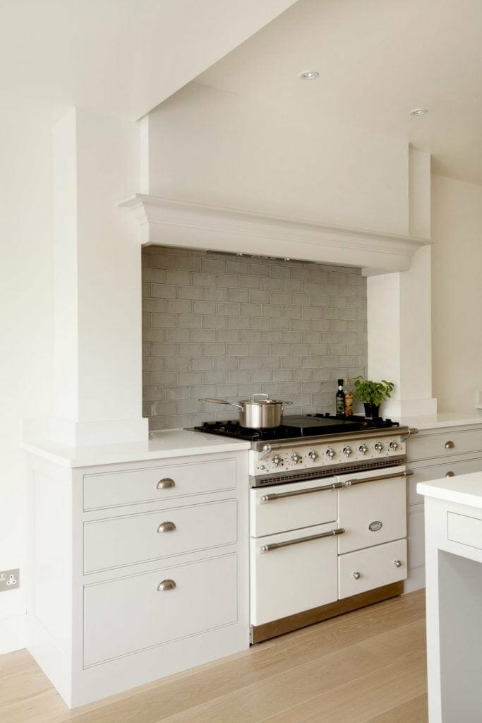 Barnes Shaker Kitchen Custom Chimney and Lacanche Cooker