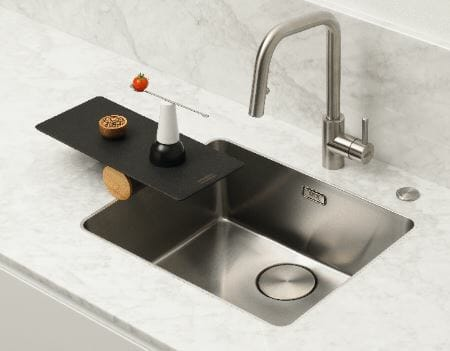 Mythos MYX steel sink by Franke with new Flushmount option