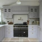 Muswell Hill Painted Shaker Kitchen Lacanche range cooker and canopy over